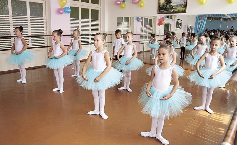 Отчётный урок в балетном классе