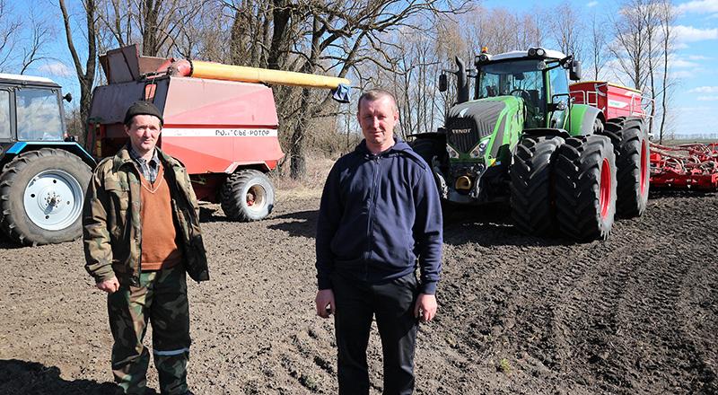 В ОАО «Новая Припять» начали сеять ранние яровые зерновые и зернобобовые культуры