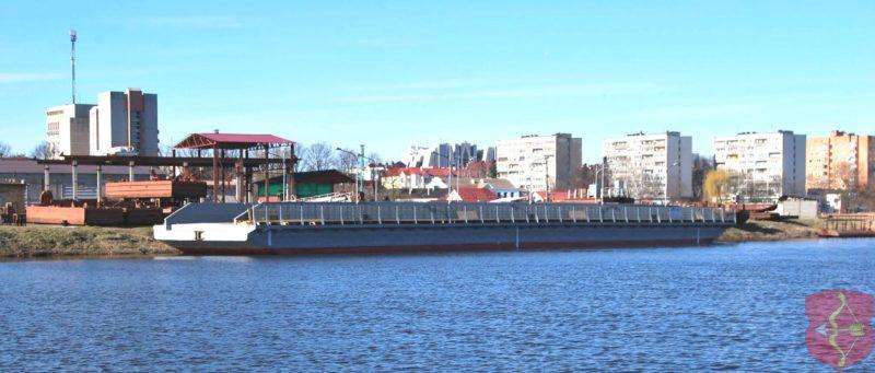 В Пинск прибыл наплавной мост