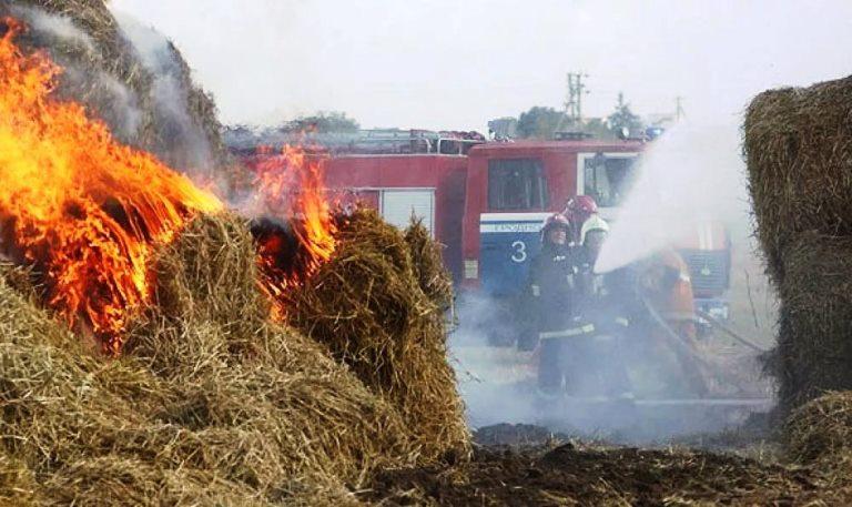 1,5 т сена сгорело на пожаре в аг. Ольшаны