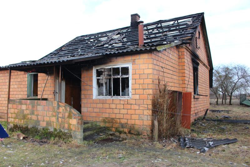 В аг. Бережное в пожаре погиб человек