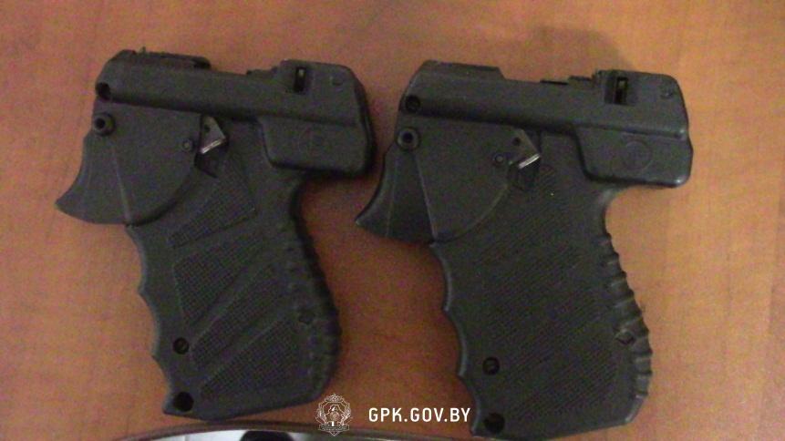 Аэрозольные пистолеты с патронами изъяты в пункте пропуска «Брест»