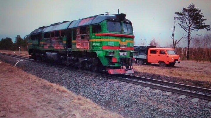 В Столинском районе горел локомотив. СК проводит проверку