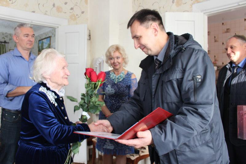Ветэран вайны і працы Ганна Кавалеўская з Беражнога адзначыла сваё 95-годдзе