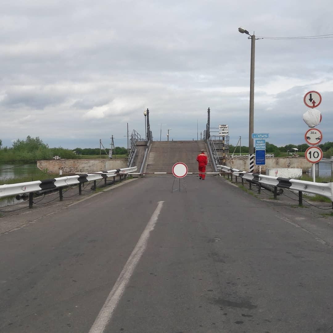 Мост на Рубель закрыт, в связи с увеличением уровня воды