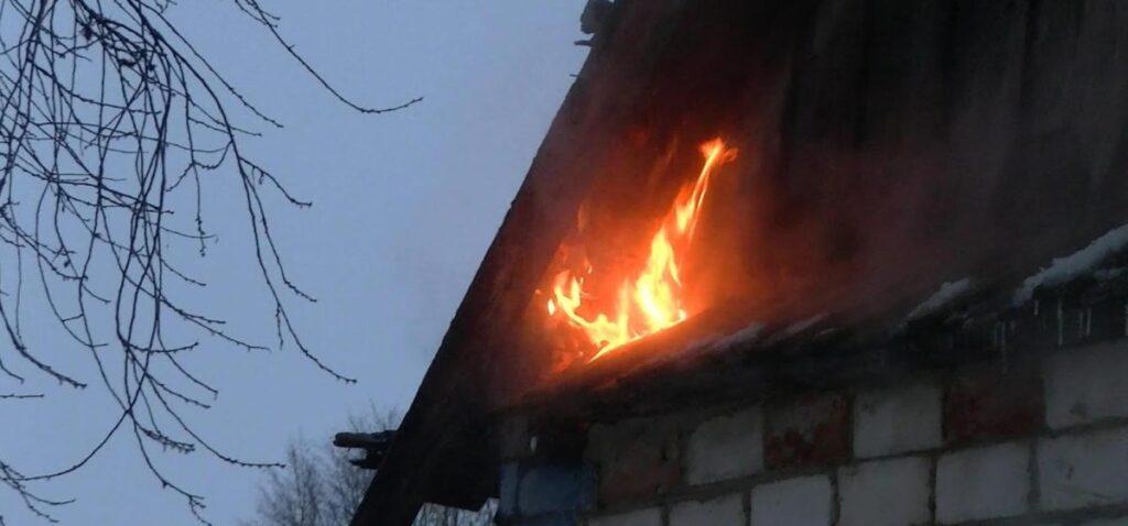 В д. Лутки на пожаре погиб человек